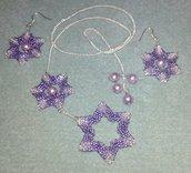 Parure stelle viola argento