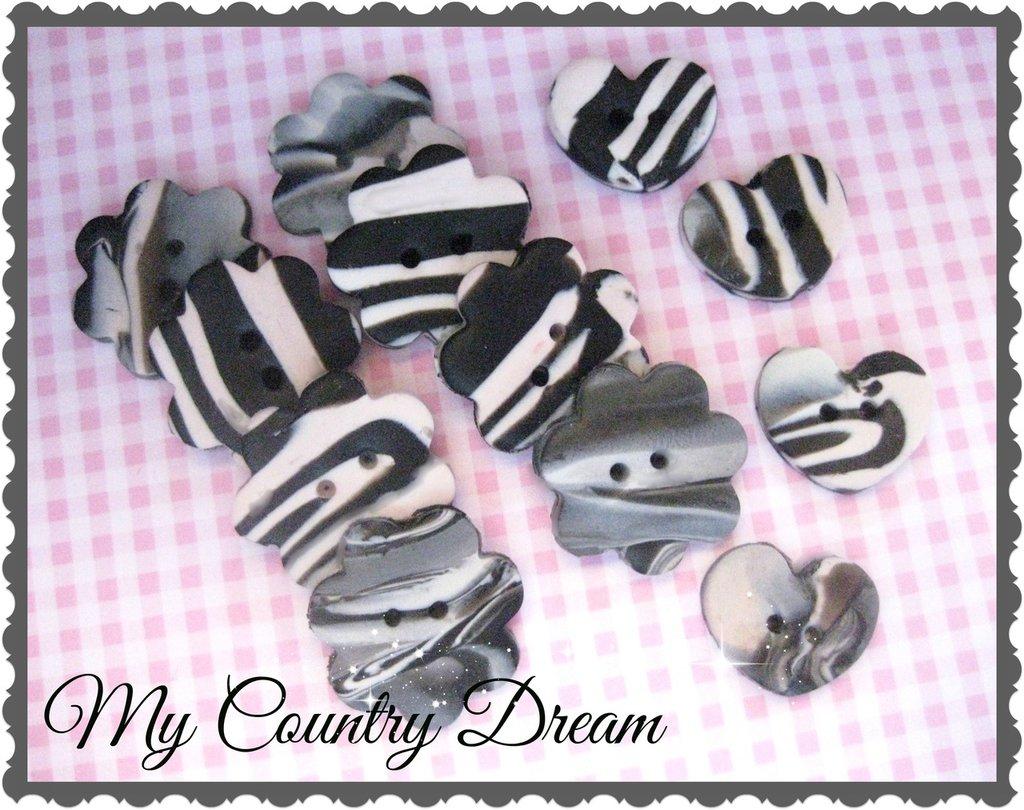 """Bottoni artigianali """"Zebra"""""""