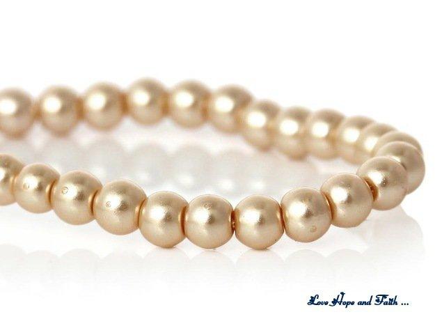 """NOVITA'! LOTTO 220 perle """"Champagne"""" (4mm) (cod. new)"""
