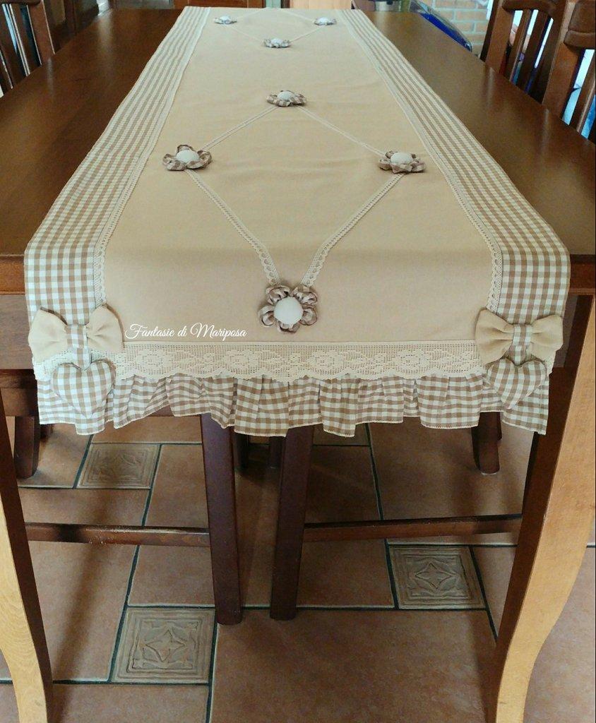 Runner per tavolo per la casa e per te cucina di fantasie di su misshobby - Runner da tavolo ...