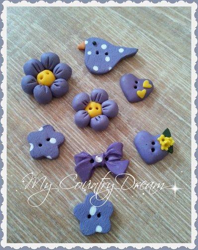 """Bottoni artigianali """"Purple Spring"""""""
