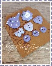 "Bottoni Artigianali ""Lilac Spring"""