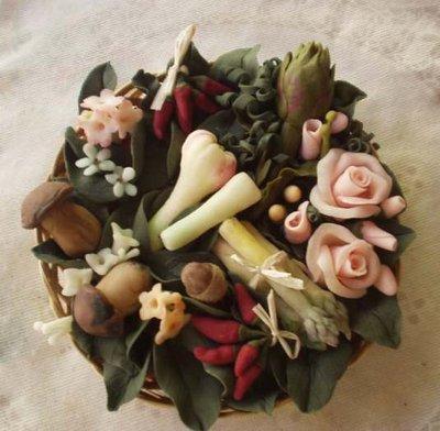 cesto funghi e verdure