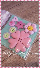 "Bottoni artigianali ""Pink Flower"""