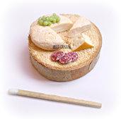 Miniatura in pasta polimerica su base in legno - Salumi e formaggi - Decorazione casa