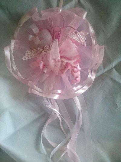Coccarda nascita rosa