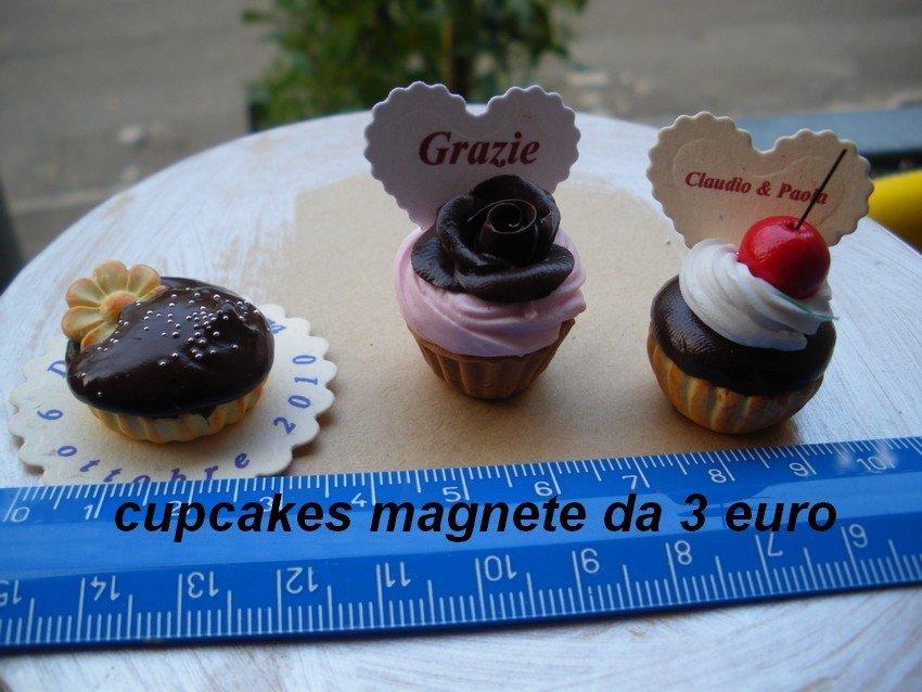 cupcakes magnete segnaposto personalizzati