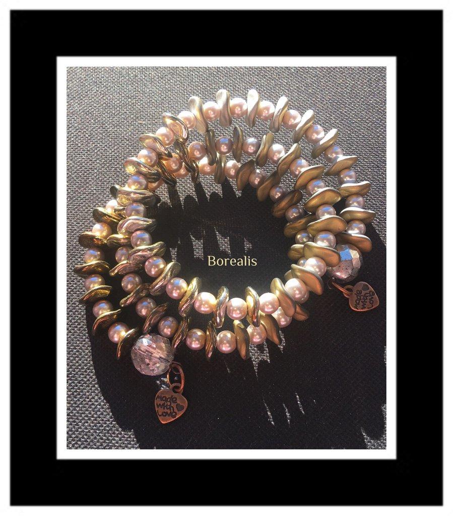 Bracciale Ripple Molla Armonica Perle di Boemia