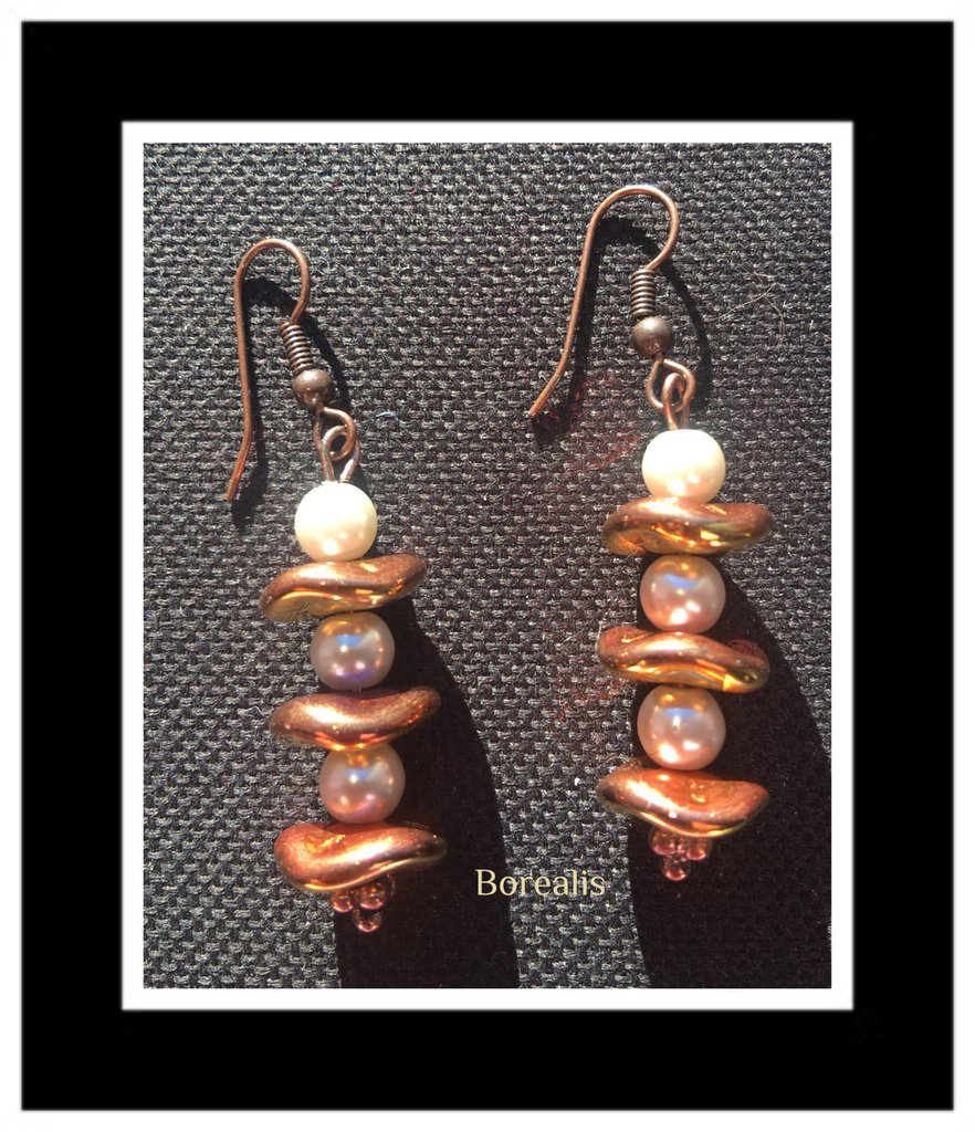 Orecchini Ripple Perle di Boemia