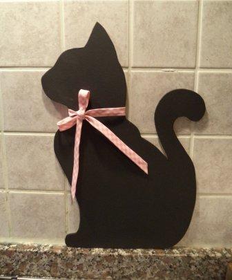 Lavagnetta cucina Shabby chic Cameretta bimbi gatto fatto a mano