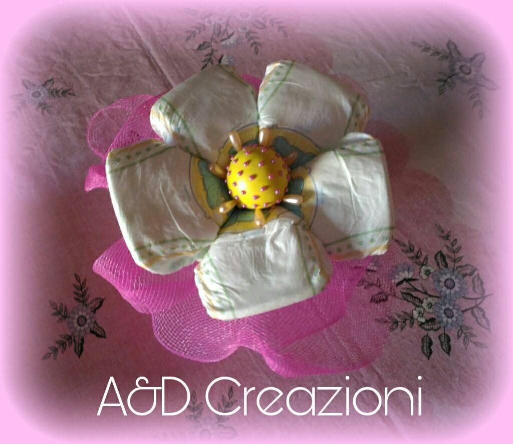 torta di pannolini fiore