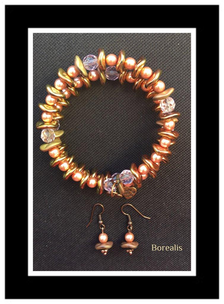 Parure Ripple Molla Armonica Perle di Boemia