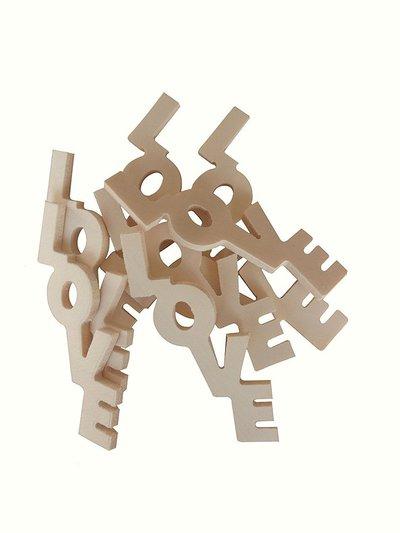 Scritta in legno love cm h 7 x 3 l spessore 4 mm 5 pezzi