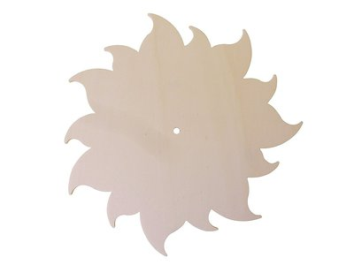 Base Orologio in legno di pioppo a forma di sole per il fai da te , decoupage 3 pz