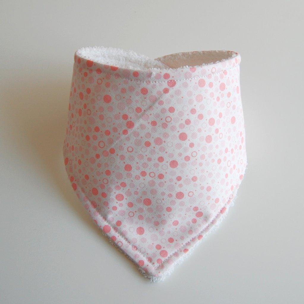 bavaglia a bandana con pois rosa
