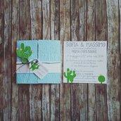 """Invito Prima Comunione """"Cactus"""""""
