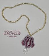 """Collana con catena lunga e ciondolo in soutache - Collezione """"Soutache Mon Amour"""""""