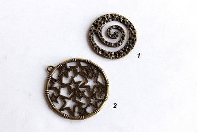2 Pendenti in bronzo