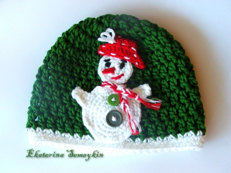 Crochet baby toddler hat