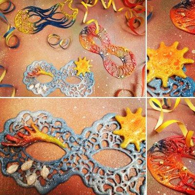 mascherine colorate super leggere per feste,eventi,party