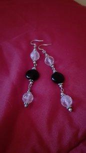 orecchini pendenti con pietre vere in argento fatti a mano