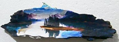 Quadri Paesaggio lago e montagna