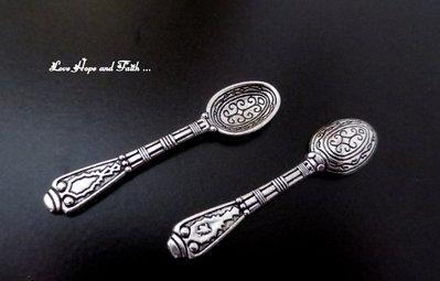 "Charm ""Cucchiaino vintage"""" color argento (43x10mm) (scod. 66279)"