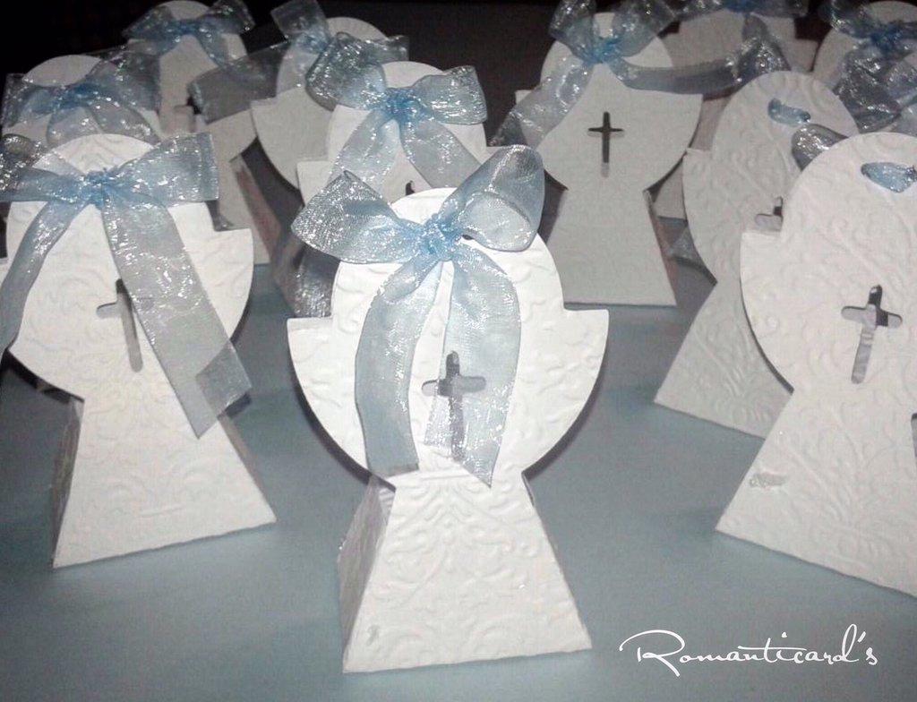 Bomboniera pe porta confetti scatolina Calice per Prima Comunione by Romanticards
