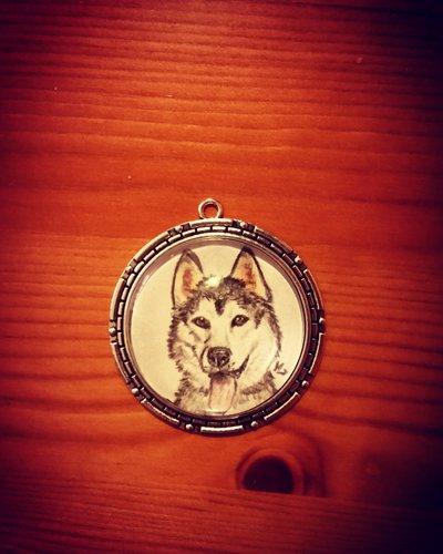 Ciondolo ritratto cane (personalizzabile )