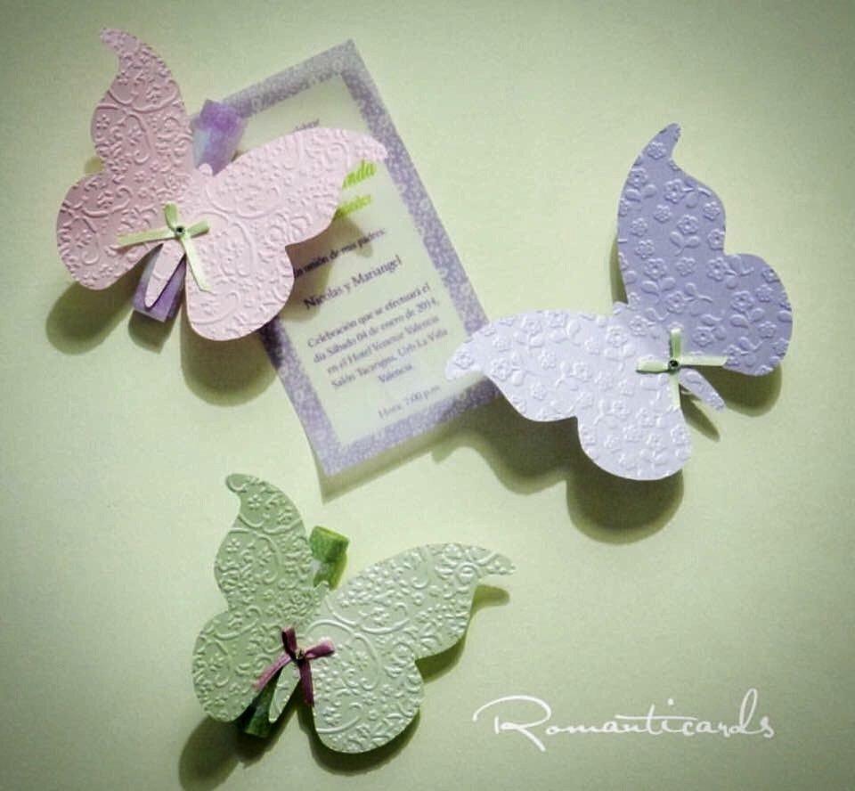 Partecipazione Modello Farfalla by Romanticards