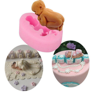 """Stampo in silicone """"BABY MOLD"""" (4.7 x 7 x 2.4cm)"""