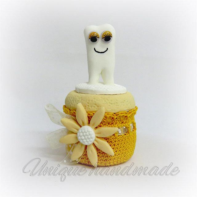 Contenitore porta dentini giallo