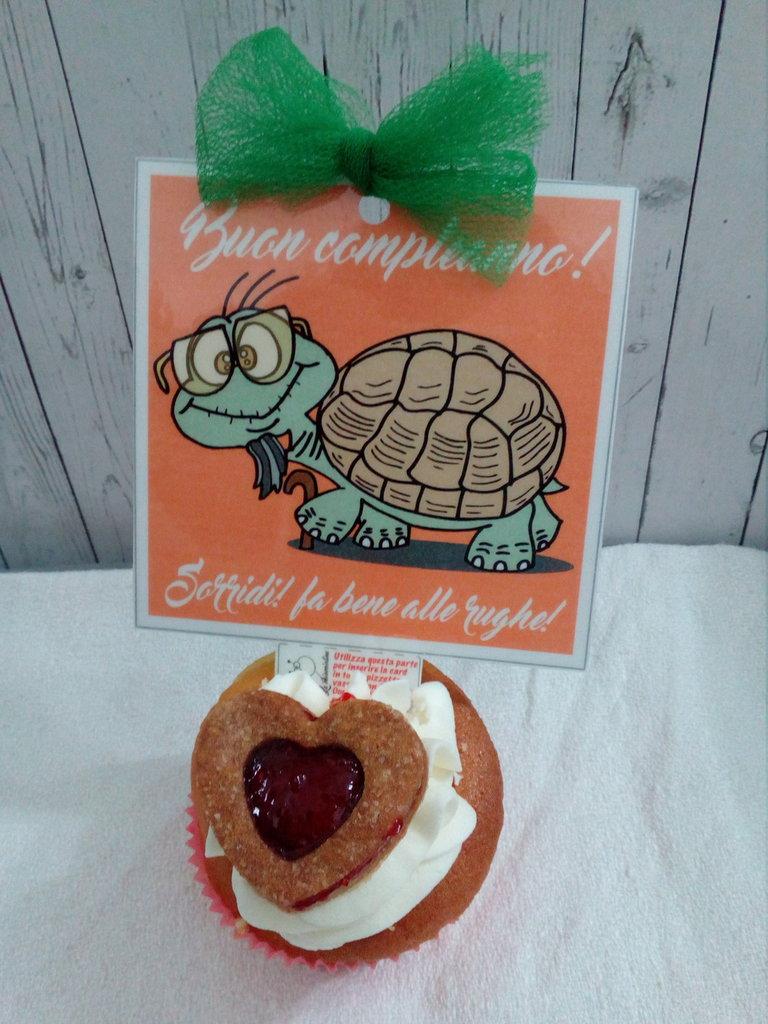 Biglietto d'auguri fatto a mano : Compleanno tartaruga