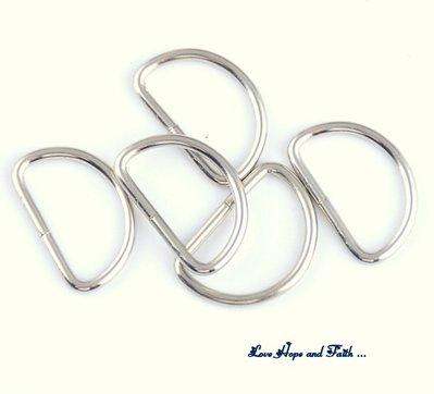 Passanti per anse borse semi cerchio (rodiato new)