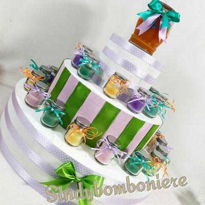 Bomboniere candela PROFUMATA  in vasetto con coperchio colori assortiti per VARIE OCCASIONI