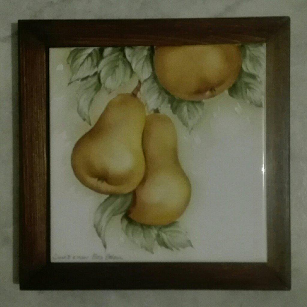 Sottopentola dipinto a mano con pere