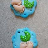 magnete piedini in fimo