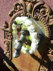 Cerchietto con roselline  per  comunione