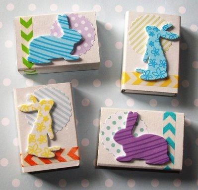 Pasqua Collection^^ - Lotto Scatoline decorate per regali e pensierini di pasqua - Coniglietti^^ (4pz)