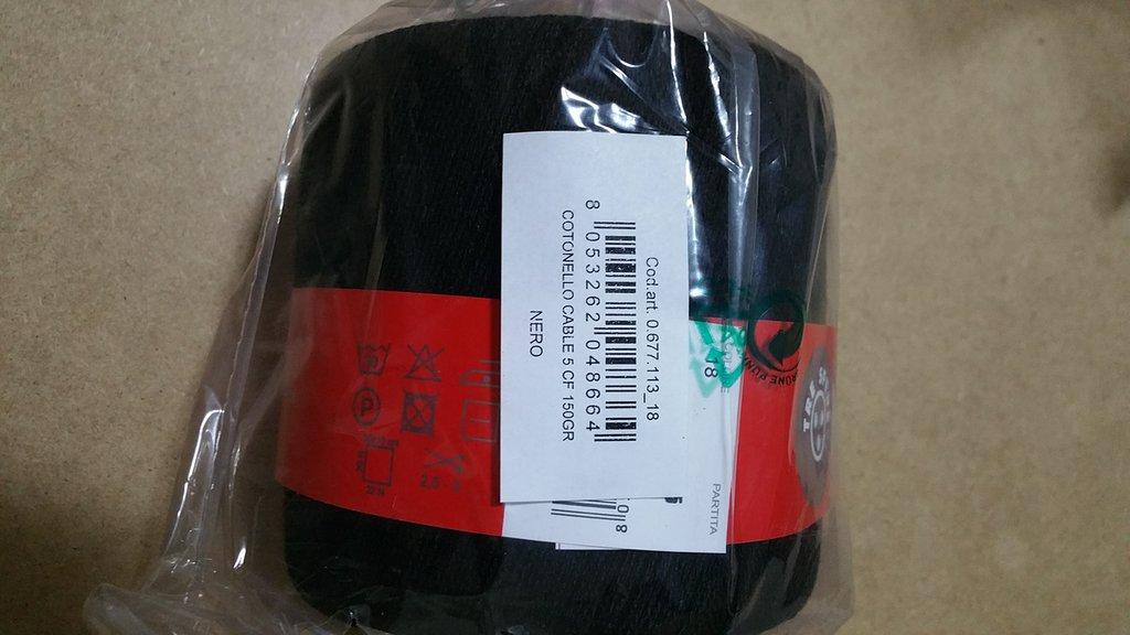 Cotone cable' n.5 nero