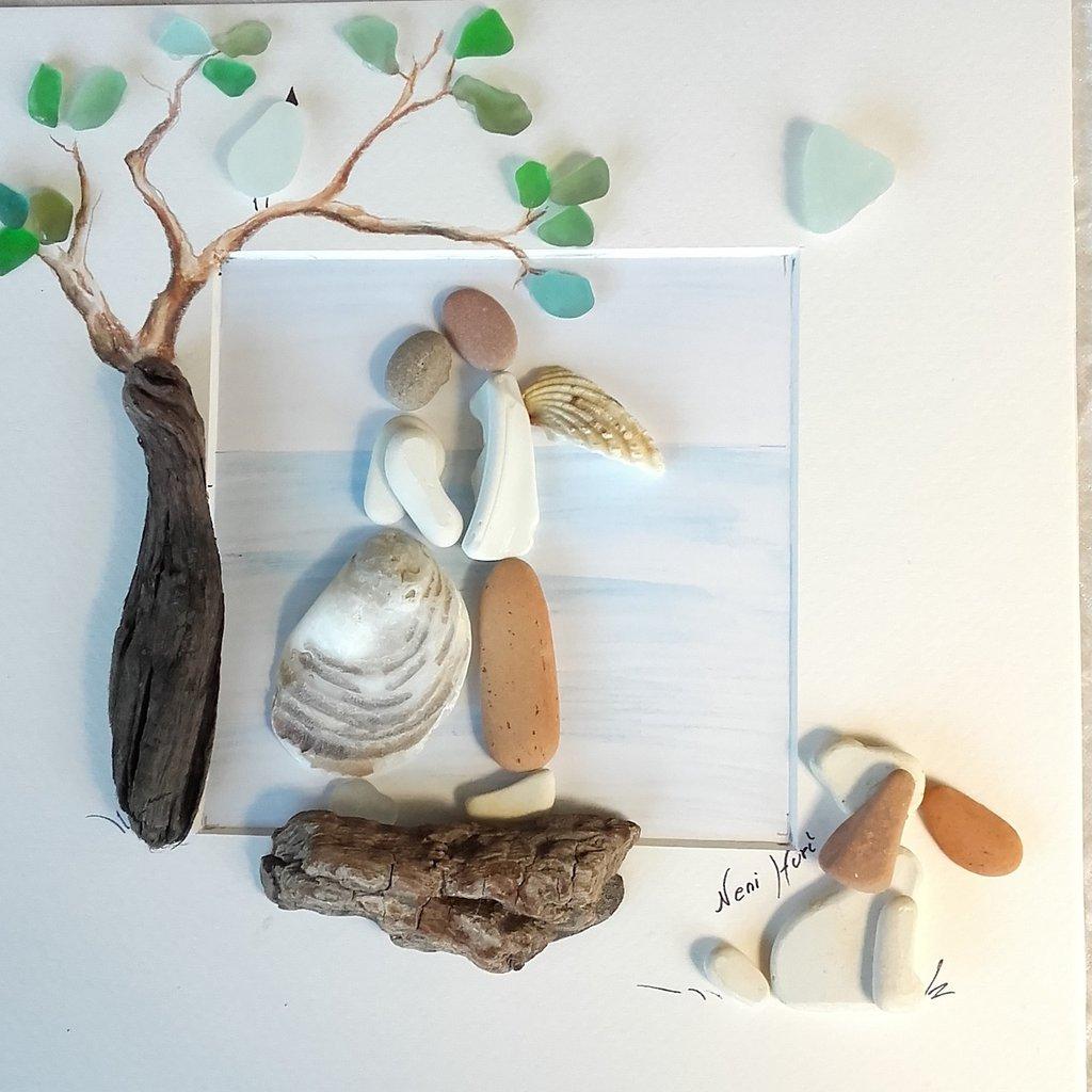 """Arte del vetro e ciottoli - """"In love with an angel"""" (VENDUTO)"""