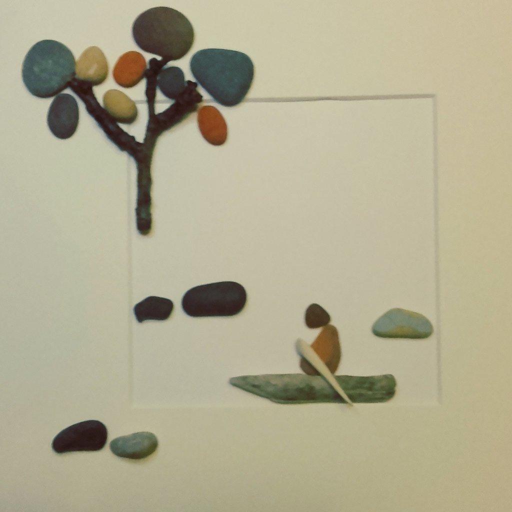 """Arte del vetro e ciottoli - """"Lungo il fiume"""""""