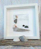 """Arte di vetri e di sassi - """"Sulla scogliera, d' inverno"""""""