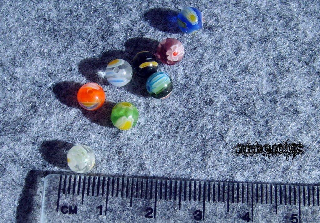 10 pz perle vetro murrina