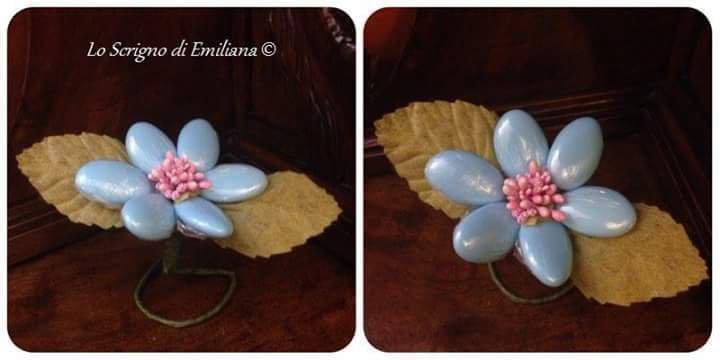 Bomboniera/segnaposto per ogni evento fiore confetti