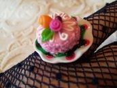 Anello goloso - torta glassa rosa