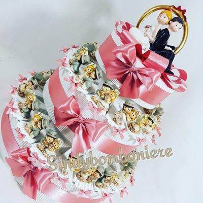 Torta di BOMBONIERE  per matrimonio oggetti d'appoggio confetti inclusi