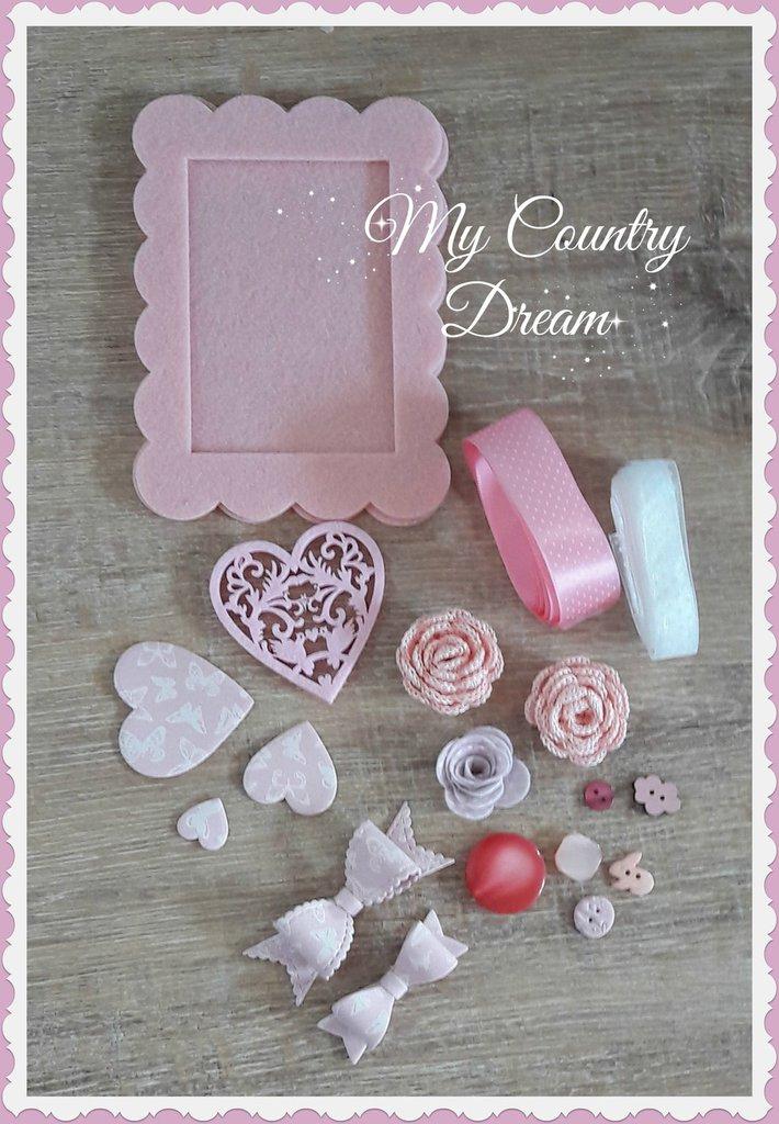 """Set creativo """"Romantic in rose"""""""