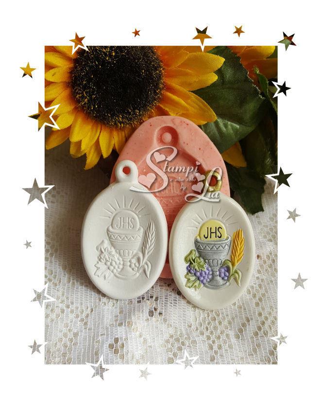 Stampo *Appendino ovale con simbolo calice*