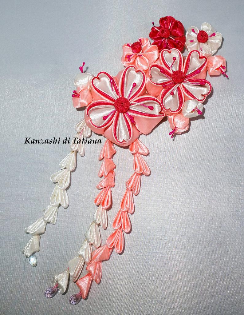 Tsumami kanzashi tradizionale 6